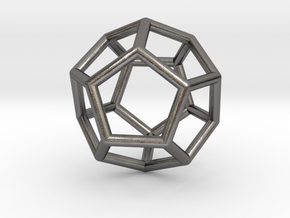 0022 Fullerene c20ih Bonds (Dodecahedron) in Polished Nickel Steel