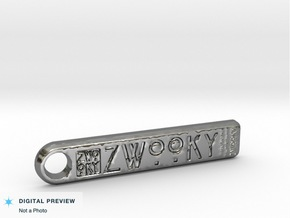 ZWOOKY Style 132 Sample - keychain  in Fine Detail Polished Silver