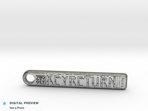 ZWOOKY Style 131 Sample - keychain keyreturn  in Fine Detail Polished Silver