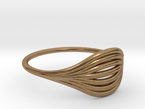Flow Ring 01  in Natural Brass