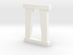 N Scale Bridge Pier #3 in White Processed Versatile Plastic