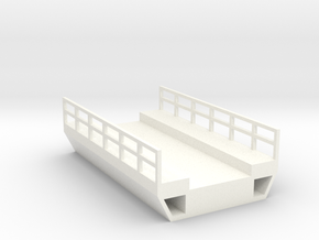 N Modern Concrete Bridge Deck Single Track 60mm in White Processed Versatile Plastic