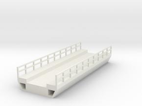 N Modern Concrete Bridge Deck Single Track 100mm in White Natural Versatile Plastic
