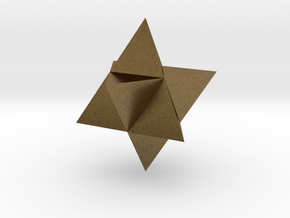 Star Tetrahedron (Merkaba) in Natural Bronze