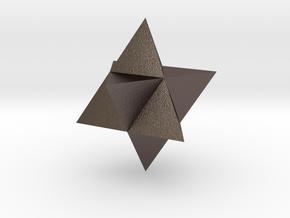 Star Tetrahedron (Merkaba) in Polished Bronzed Silver Steel
