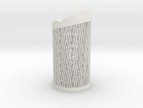Pen Holder Structure in White Natural Versatile Plastic