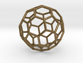 0024 Fullerene c60-ih Bonds/Truncated icosahedron in Natural Bronze