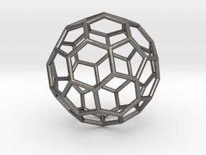 0024 Fullerene c60-ih Bonds/Truncated icosahedron in Polished Nickel Steel