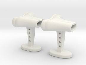 Boots cufflinks in White Natural Versatile Plastic