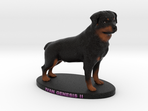 Custom Dog Figurine - Ivan in Full Color Sandstone
