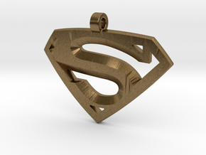Superman Medallion in Natural Bronze
