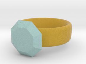 pesudo gold and diamond ring in Full Color Sandstone