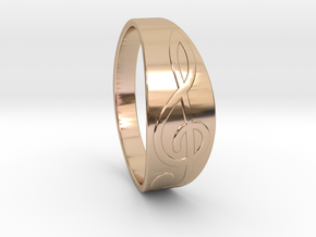 Size 7 M G-Clef Ring  in 14k Rose Gold