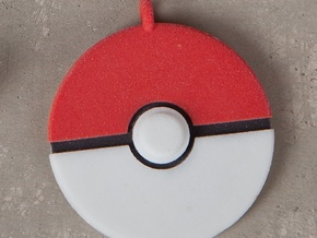 Poke Ball Pendant in Full Color Sandstone