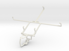 Controller mount for PS3 & Amazon Kindle Fire in White Natural Versatile Plastic