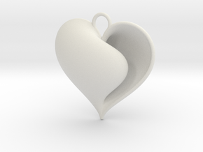Shy Love (from $12.50) in White Natural Versatile Plastic: Large
