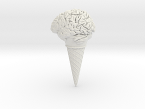 Icecream Brain in White Strong & Flexible