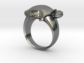 Turtle Ring (Size 7.5) in Fine Detail Polished Silver