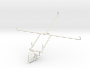 Controller mount for PS3 & Asus Transformer Pad TF in White Natural Versatile Plastic