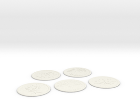 Ravnica Coasters blank 2 in White Natural Versatile Plastic