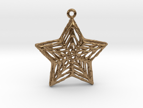 Star Pendant in Natural Brass