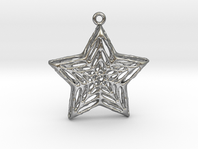 Star Pendant in Raw Silver