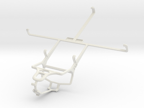 Controller mount for PS4 & BlackBerry 4G PlayBook  in White Natural Versatile Plastic