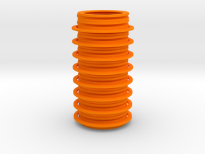 Disc Vase in Orange Processed Versatile Plastic