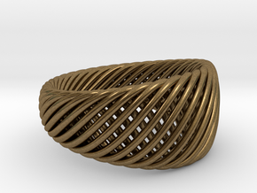 Twisted Ring - Size 5 in Natural Bronze