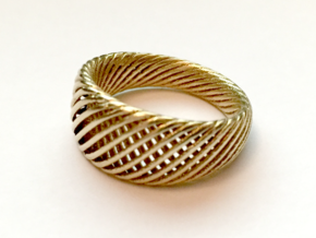 Twisted Ring - Size 5 in Raw Brass