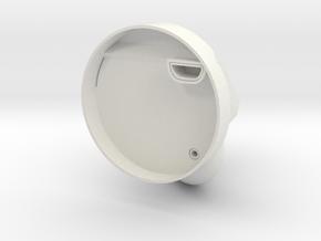 Music Horn in White Natural Versatile Plastic