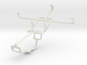 Controller mount for Xbox One & BLU Quattro 4.5 HD in White Natural Versatile Plastic