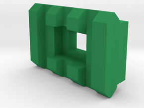 3 Slots Rail (Pre-Drilled) in Green Processed Versatile Plastic