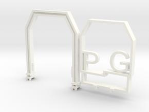 NEM102 N Scale clearance gauge in White Processed Versatile Plastic