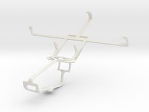 Controller mount for Xbox One & BLU Studio 5.3 II in White Natural Versatile Plastic