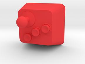 Arcade Controller Cherry MX Keycap in Red Processed Versatile Plastic