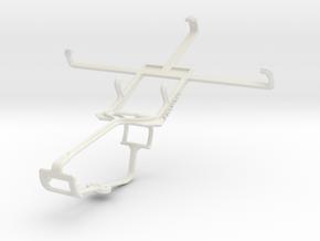 Controller mount for Xbox One & BLU Vivo 4.65 HD in White Natural Versatile Plastic