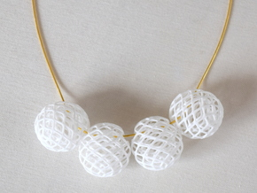 Bud Bead in White Natural Versatile Plastic