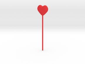 Coeur  in Red Processed Versatile Plastic