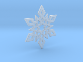 Snowflake Charm 2 in Smooth Fine Detail Plastic