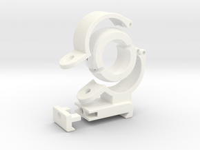 """Spherical Bearing Riflescope Mount with 1"""" Ring in White Strong & Flexible Polished"""
