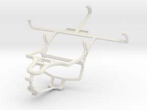 Controller mount for PS4 & Gigabyte GSmart Maya M1 in White Natural Versatile Plastic