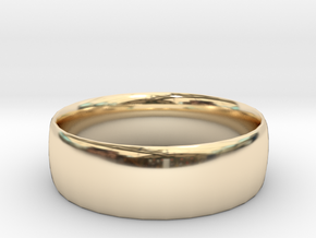 Plain Ring 20 mm x 20mm  in 14K Yellow Gold