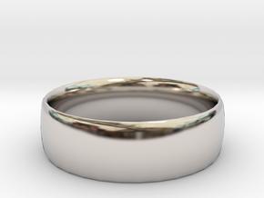 Plain Ring 20 mm x 20mm  in Platinum