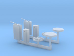O Scale BQ&T 8000 Control Parts in Smooth Fine Detail Plastic