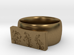 Flower  Ring Version 4 in Natural Bronze