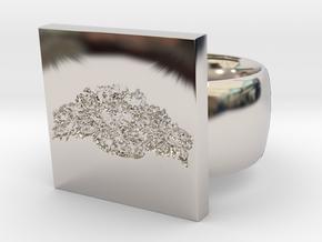 Flower  Ring Version 6 in Platinum