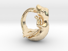 Gecko size16 in 14K Yellow Gold
