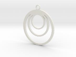 Loop pendant in White Natural Versatile Plastic