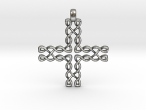CELTIC CROSS Jewelry Pendant in Bronze | Brass | S in Natural Silver